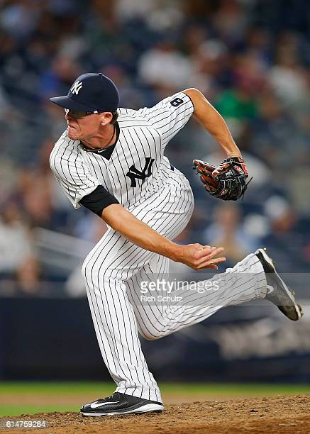 Tyler Clippard of the New York Yankees during a game against the Toronto Blue Jays at Yankee Stadium on September 7 2016 in New York City