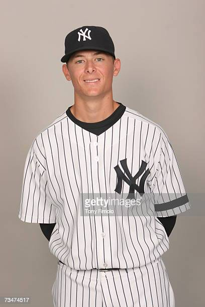 Tyler Clippard of the New York Yankees poses during photo day at Legends Field on February 23 2007 in Tampa Florida