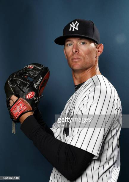 Tyler Clippard of the New York Yankees poses for a portrait during the New York Yankees photo day on February 21 2017 at George M Steinbrenner Field...