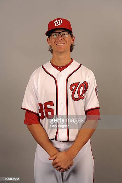 Tyler Clippard of the Washington Nationals poses during Photo Day on Tuesday February 28 2012 at Space Coast Stadium in Viera Florida