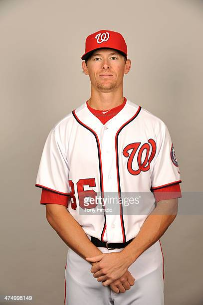 Tyler Clippard of the Washington Nationals poses during Photo Day on February 23 2014 at Space Coast Stadium in Viera Florida