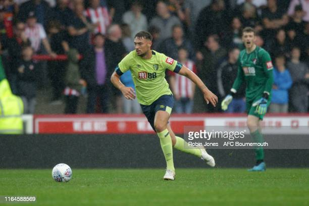 Tyler Cordner of Bournemouth during the Pre-Season Friendly match between Brentford and AFC Bournemouth at Griffin Park on July 27, 2019 in...