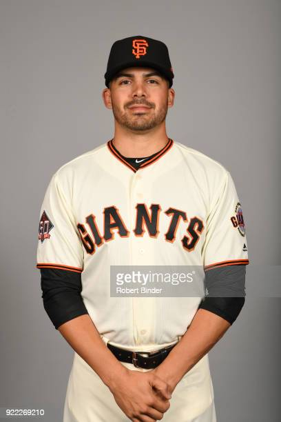 Tyler Cyr of the San Francisco Giants poses during Photo Day on Tuesday February 20 2018 at Scottsdale Stadium in Scottsdale Arizona