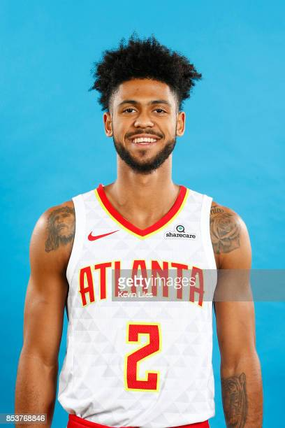 Tyler Dorsey of the Atlanta Hawks poses for a head shot during Media Day on September 25 2017 at Four Season Hotel in Atlanta Georgia NOTE TO USER...