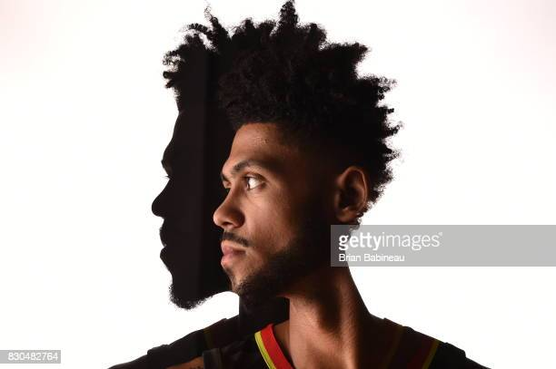 Tyler Dorsey of the Atlanta Hawks poses for a portrait during the 2017 NBA Rookie Photo Shoot at MSG training center on August 11 2017 in Tarrytown...