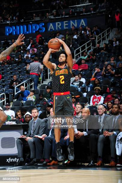 Tyler Dorsey of the Atlanta Hawks shoots the ball against the Brooklyn Nets on December 4 2017 at Philips Arena in Atlanta Georgia NOTE TO USER User...