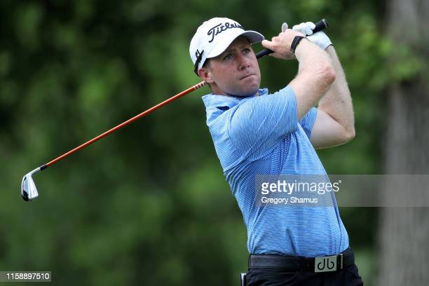 Tyler Duncan during round two of the Rocket Mortgage Classic at the Detroit Country Club on June 28 2019 in Detroit Michigan