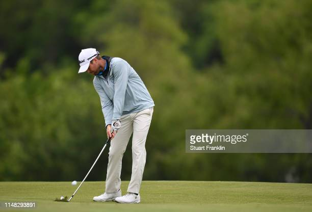 Tyler Duncan of USA play a shot on the 15th hole during the second round of the ATT Byron Nelson at Trinty Forest Golf Club on May 10 2019 in Dallas...