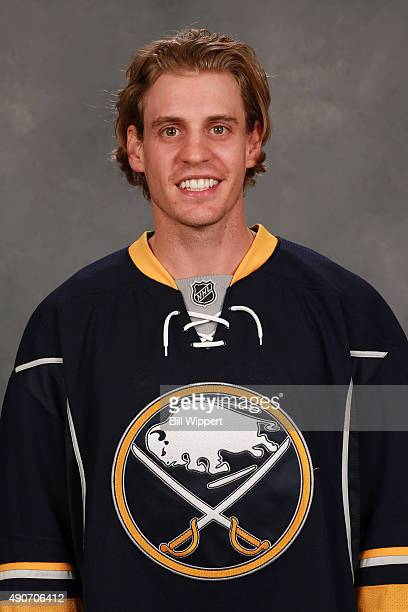 Tyler Ennis of the Buffalo Sabres poses for his official headshot for the 20152016 season on September 17 2015 at the First Niagara Center in Buffalo...