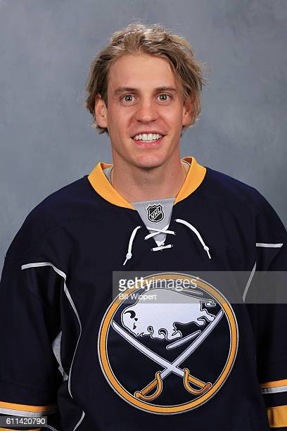 Tyler Ennis of the Buffalo Sabres poses for his official headshot of the 20162017 season on September 22 2016 at the KeyBank Center in Buffalo New...