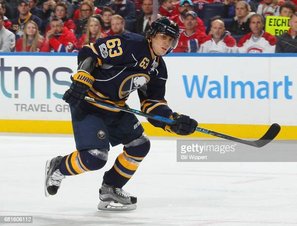 Tyler Ennis of the Buffalo Sabres skates against the Montreal Canadiens during an NHL game at KeyBank Center on April 5 2017 in Buffalo New York