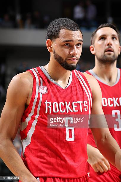 Tyler Ennis of the Houston Rockets is seen during the game against the Dallas Mavericks on October 28 2016 at the American Airlines Center in Dallas...