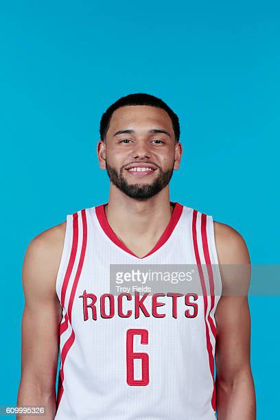 Tyler Ennis of the Houston Rockets poses for a headshot during the 20162017 Houston Rockets Media Day on September 23 2016 at the Toyota Center in...