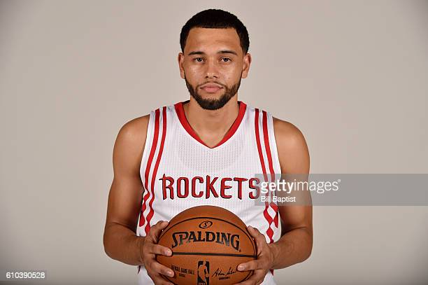 Tyler Ennis of the Houston Rockets poses for a portrait during the 2016 NBA Media Day at the Toyota Center on September 24 2016 in Houston Texas NOTE...