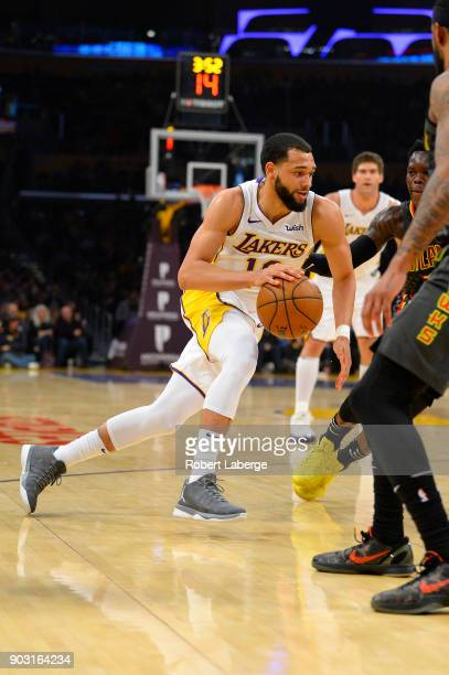 Tyler Ennis of the Los Angeles Lakers during the game against the Atlanta Hawks on January 7 2018 at STAPLES Center in Los Angeles California NOTE TO...