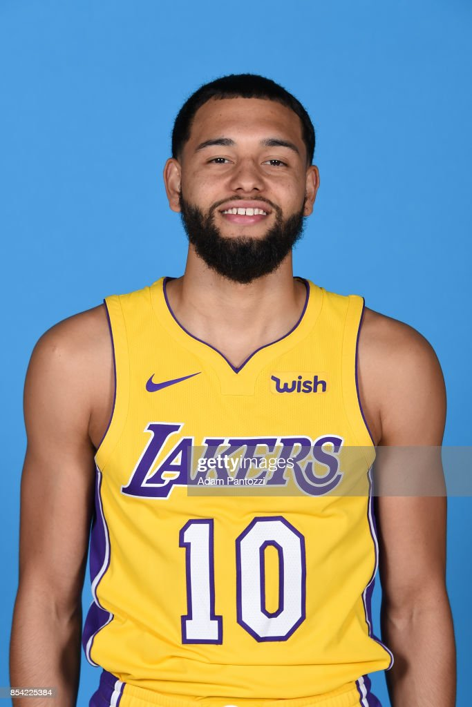 Tyler Ennis #10 of the Los Angeles Lakers poses for a head shot during media day at UCLA Health Training Center on September 25, 2017 in El Segundo, California.
