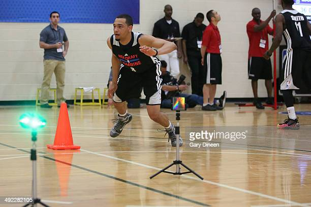Tyler Ennis participates in drills during the 2014 Draft Combine on May 16 2014 at Quest Multisport in Chicago Illinois NOTE TO USER User expressly...