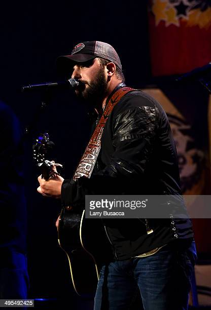 Tyler Farr performs during the 9th annual Stars For Second Harvest Benefit at Ryman Auditorium on June 3, 2014 in Nashville, Tennessee.