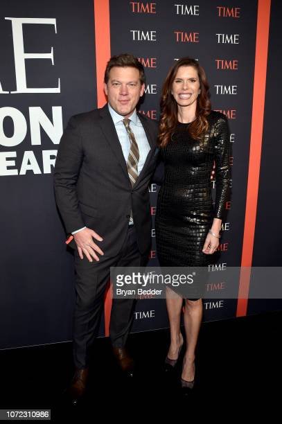 Tyler Florence and Lynne Benioff attend the TIME Person Of The Year Celebration at Capitale on December 12 2018 in New York City