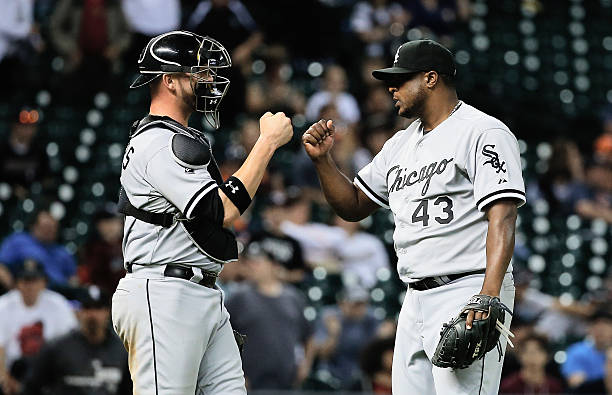 Chicago white sox v houston astros photos and images getty images tyler flowers 21 and frank francisco 43 of the chicago white sox celebrate at mightylinksfo