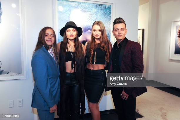 Tyler Fulco Stevie Fulco Joei Fulco and Jesse Fulco of the Fulcos attend the 2000s Exhibition Opening at Mouche Gallery Sponsored by Fujifilm on June...