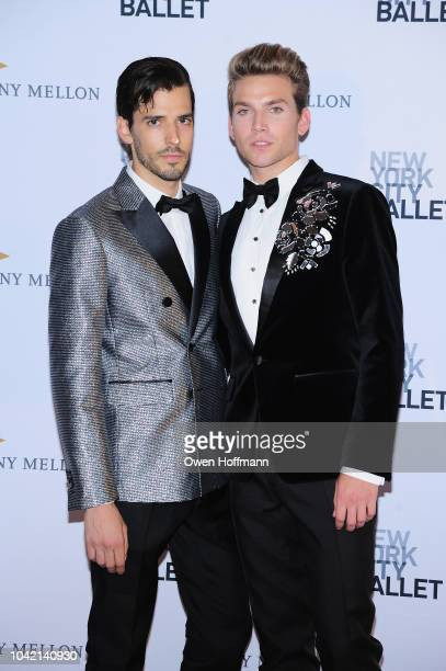 Tyler Gardella and Alec Knight attends the New York City Ballet 2018 Fall Fashion Gala at David H Koch Theater at Lincoln Center on September 27 2018...