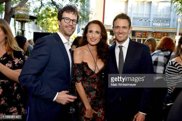 Tyler Gillett Andie MacDowell and Matt BettinelliOlpin attend the LA Screening Of Fox Searchlight's Ready Or Not at ArcLight Culver City on August 19...