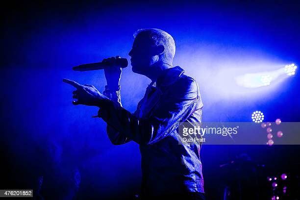 Tyler Glenn of Neon Trees performs at the Showbox at the Market on June 6 2015 in Seattle Washington
