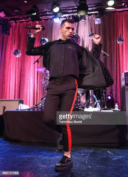 Tyler Glenn of Neon Trees performs onstage at The Trevor Project's 2017 TrevorLIVE LA Gala at The Beverly Hilton Hotel on December 3 2017 in Beverly...