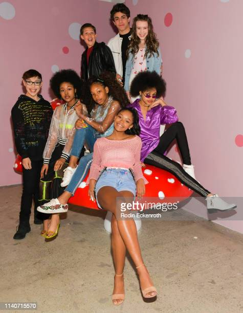 Tyler Gomez Jenasha Roy Jackson Dollinger Dai Time Brandon Rossel Jordan Leftwich Symonne Harrison and Briana Roy pose for portrait at WonderWorld...