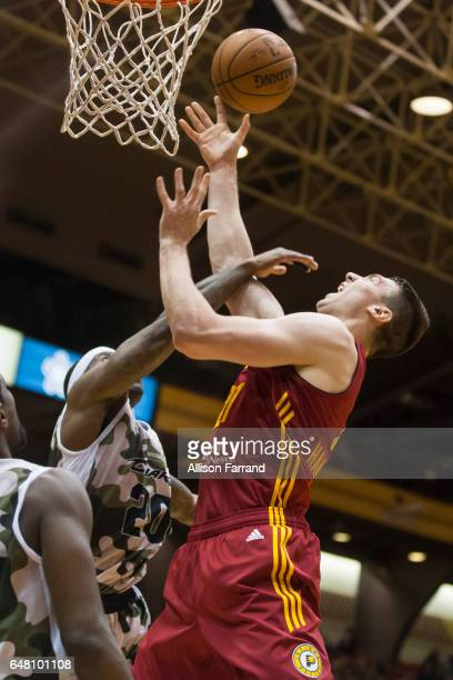 Tyler Hansbrough of the Fort Wayne Mad Ants shoots a layup against the Canton Charge at the Canton Memorial Civic Center on March 4 2017 in Canton...
