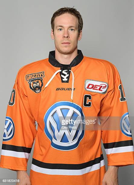 Tyler Haskins of the Grizzlys Wolfsburg during the portrait shot on September 4 2016 in Wolfsburg Germany