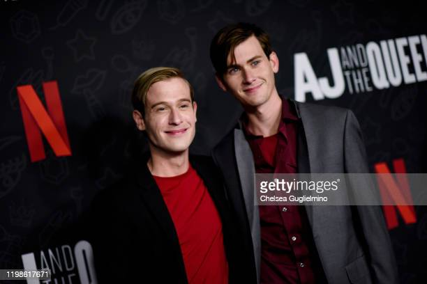 Tyler Henry and Clint Godwin attend the premiere of Netflix's AJ and the Queen Season 1 at the Egyptian Theatre on January 09 2020 in Hollywood...