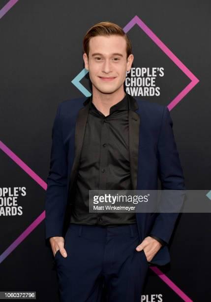 Tyler Henry attends the People's Choice Awards 2018 at Barker Hangar on November 11 2018 in Santa Monica California