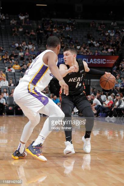 Tyler Herro of Miami Heat handles the ball against the Los Angeles Lakerson July 1 2019 at the Golden 1 Center in Phoenix Arizona NOTE TO USER User...