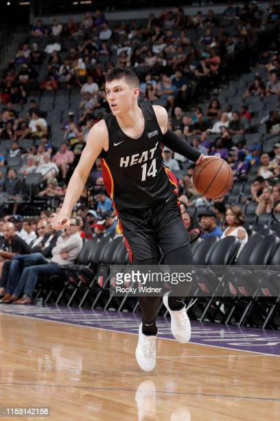 Tyler Herro of Miami Heat handles the ball against the Los Angeles Lakers on July 1 2019 at the Golden 1 Center in Phoenix Arizona NOTE TO USER User...
