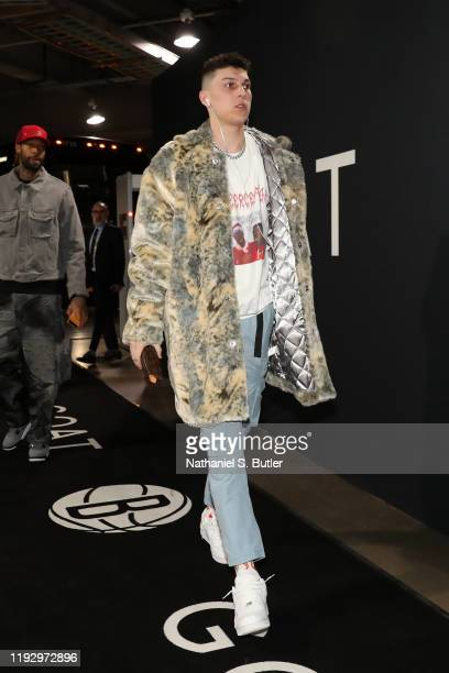 Tyler Herro of the Miami Heat arrives to the game against the Brooklyn Nets on January 10, 2020 at Madison Square Garden in New York City, New York....