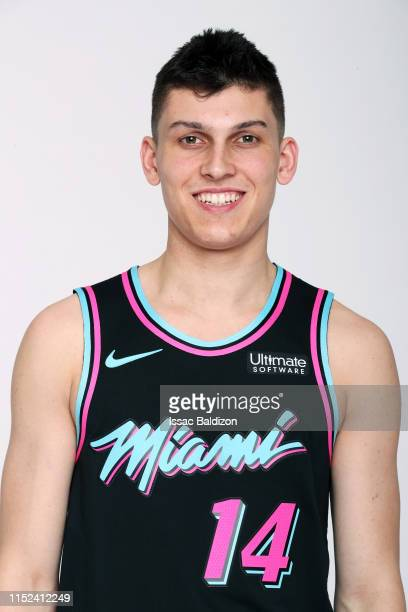 Tyler Herro of the Miami Heat poses for a portrait on June 21 2019 at American Airlines Arena in Miami Florida NOTE TO USER User expressly...