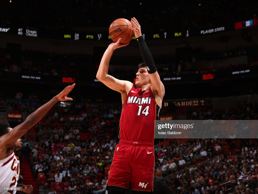Tyler Herro Of The Miami Heat Shoots The Ball Against The Cleveland News Photo Getty Images