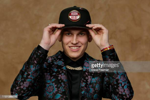 Tyler Herro poses for a portrait after being drafted by the Miami Heat at the 2019 NBA Draft on June 20 2019 at Barclays Center in Brooklyn New York...