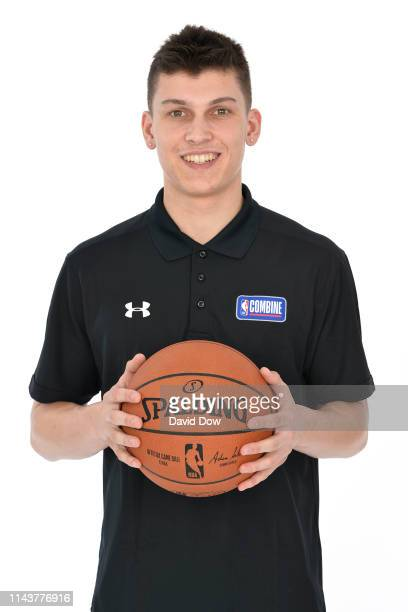 Tyler Herro poses for a portrait at the 2019 NBA Draft Combine on May 14 2019 at the Chicago Hilton in Chicago Illinois NOTE TO USER User expressly...