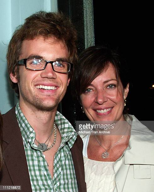 Tyler Hilton and Allison Janney during Evian Detox Spa Launch Party February 27 2006 at Evian Detox Spa in Beverly Hills California United States