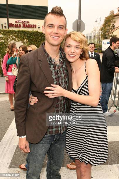 Tyler Hilton and Hilarie Burton during The Sunkist One Tree Hill Friends with Benefits Tour Visits The Grove in Los Angeles March 25 2006 at The...