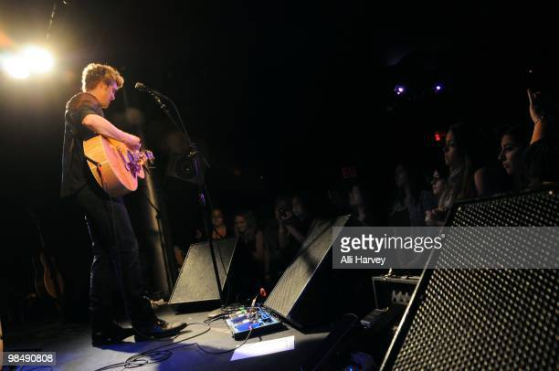 Tyler Hilton performs at Canal Room on April 15 2010 in New York City