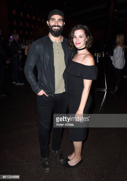 Tyler Hoechlin and Haley Webb at the MTV Teen Wolf 100th episode screening and series wrap party at DGA Theater on September 21 2017 in Los Angeles...