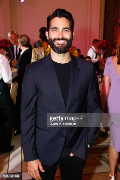 Tyler Hoechlin attends the amfAR Paris Dinner 2017 at Le Petit Palais on July 2 2017 in Paris France