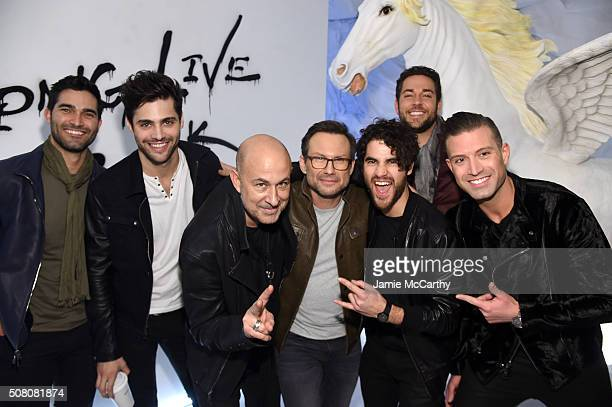 Tyler Hoechlin Matthew Daddario John Varvatos Christian Slater Darren Criss Zachary Levi and Omar Sharif Jr attend John Varvatos Fall/Winter 2016...