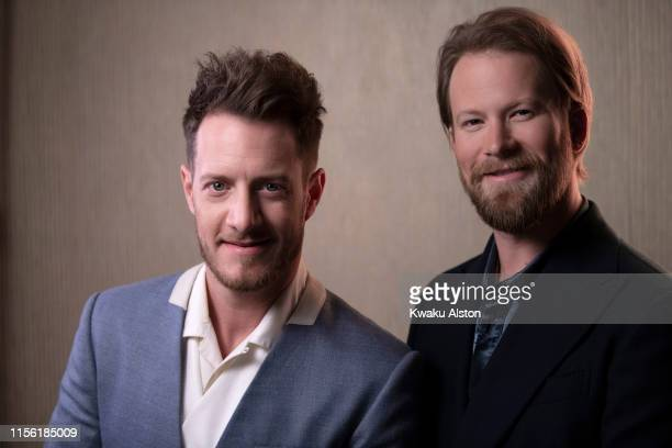 Tyler Hubbard and Brian Kelley of Florida Georgia Line are photographed for The Hollywood Reporter on February 9 2019 at the Clive Davis' Grammy...