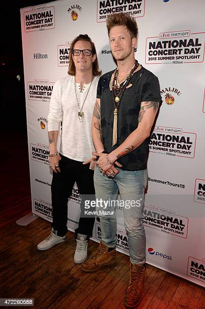 Tyler Hubbard and Brian Kelley of Florida Georgia Line arrive as Live Nation Celebrates National Concert Day At Their 2015 Summer Spotlight Event...
