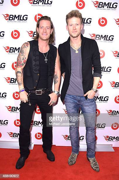Tyler Hubbard and Brian Kelley of Florida Georgia Line attend the Big Machine Label Group Celebrates The 48th Annual CMA Awards in Nashville on...